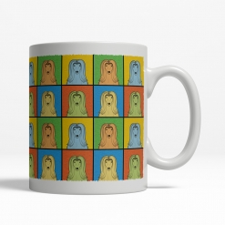 Afghan Hound Dog Cartoon Pop-Art Mug - Right View