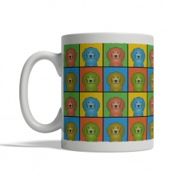 American English Coonhound Dog Cartoon Pop-Art Mug - Left View