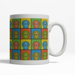 American English Coonhound Dog Cartoon Pop-Art Mug - Right View