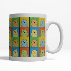 American Eskimo Dog Cartoon Pop-Art Mug - Right View