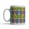 Bearded Collie Dog Cartoon Pop-Art Mug - Left View