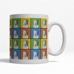 Border Collie Dog Cartoon Pop-Art Mug - Right View