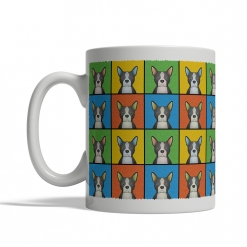 Boston Terrier Dog Cartoon Pop-Art Mug - Left View