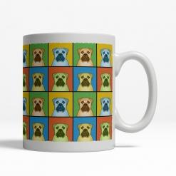 Bullmastiff Dog Cartoon Pop-Art Mug - Right View