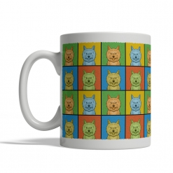 Cairn Terrier Dog Cartoon Pop-Art Mug - Left View