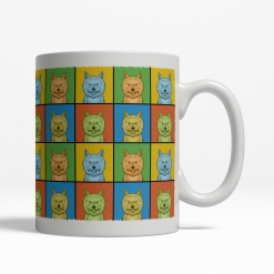Cairn Terrier Dog Cartoon Pop-Art Mug - Right View