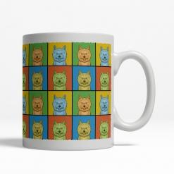 Cairn Terrier Dog Cartoon Pop-Art Mug - Right View