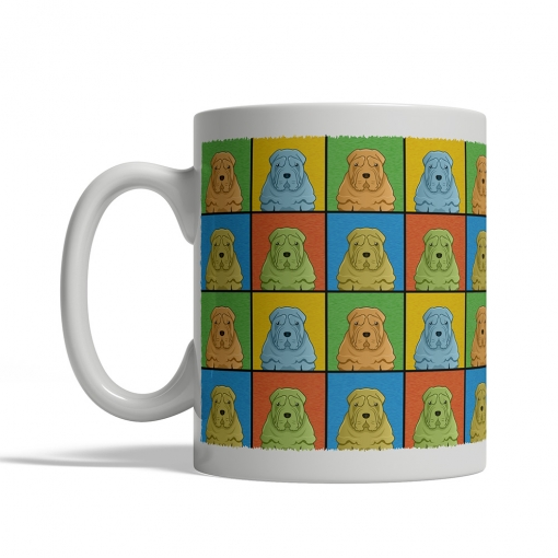 Chinese Shar Pei Dog Cartoon Pop-Art Mug - Left View
