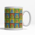 Chinese Shar Pei Dog Cartoon Pop-Art Mug - Right View
