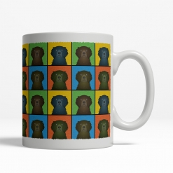 Curly Coated Retriever Dog Cartoon Pop-Art Mug - Right View