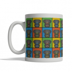 Dachshund Dog Cartoon Pop-Art Mug - Left View