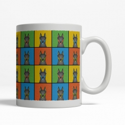 Doberman Dog Cartoon Pop-Art Mug - Right View