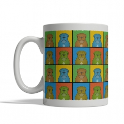 Dogue de Bordeaux Dog Cartoon Pop-Art Mug - Left View