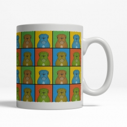 Dogue de Bordeaux Dog Cartoon Pop-Art Mug - Right View