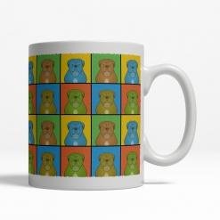 Dogue de Bordeaux Dog Cartoon Pop-Art Mug - Right View