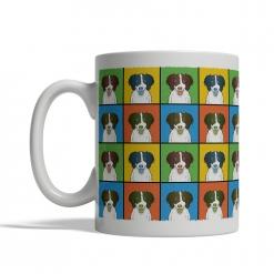 English Springer Spaniel Dog Cartoon Pop-Art Mug - Left View