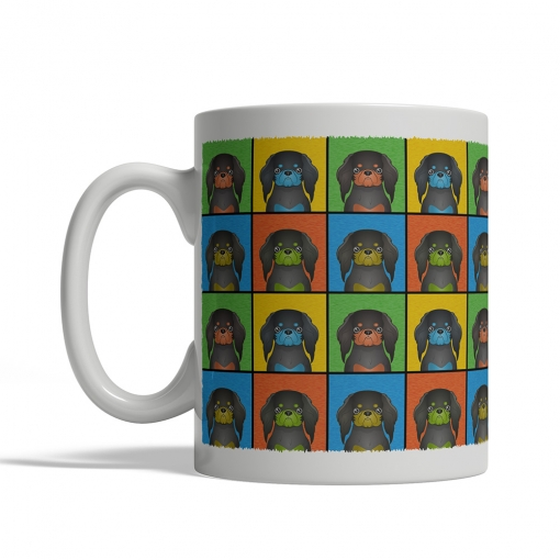 English Toy Spaniel Dog Cartoon Pop-Art Mug - Left View
