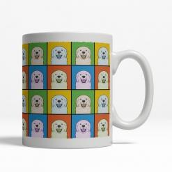 Golden Retriever Dog Cartoon Pop-Art Mug - Right View