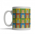 Havanese Dog Cartoon Pop-Art Mug - Left View