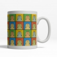 Havanese Dog Cartoon Pop-Art Mug - Right View