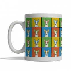 Ibizan Hound Dog Cartoon Pop-Art Mug - Left View