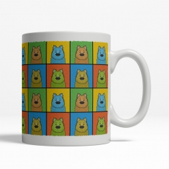 Keeshond Dog Cartoon Pop-Art Mug - Right View