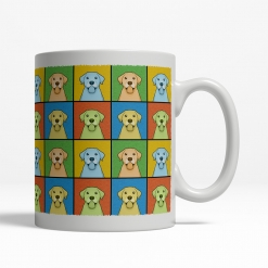 Labrador Retriever Dog Cartoon Pop-Art Mug - Right View