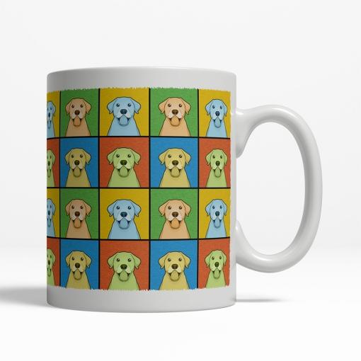 Labrador Retriever Dog Cartoon Pop-Art Mug - Right View