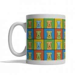 Lakeland Terrier Dog Cartoon Pop-Art Mug - Left View