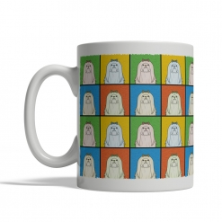 Maltese Dog Cartoon Pop-Art Mug - Left View