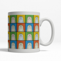 Maltese Dog Cartoon Pop-Art Mug - Right View