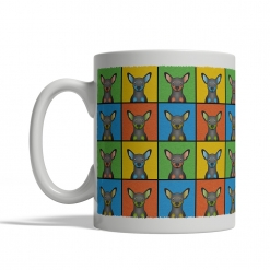 Miniature Pinscher Dog Cartoon Pop-Art Mug - Left View