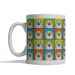 Pekingese Dog Cartoon Pop-Art Mug - Left View