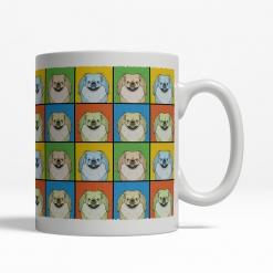 Pekingese Dog Cartoon Pop-Art Mug - Right View