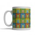 Pembroke Welsh Corgi Dog Cartoon Pop-Art Mug - Left View