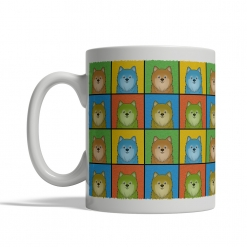 Pomeranian Dog Cartoon Pop-Art Mug - Left View