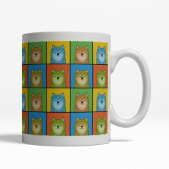 Pomeranian Dog Cartoon Pop-Art Mug - Right View