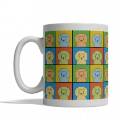 Poodle Dog Cartoon Pop-Art Mug - Left View