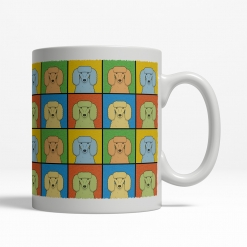 Poodle Dog Cartoon Pop-Art Mug - Right View