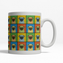 Pug Dog Cartoon Pop-Art Mug - Right View