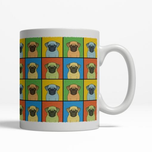 Pug Dog Cartoon Pop-Art Mug - Right View