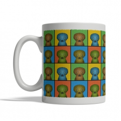 Redbone Coonhound Dog Cartoon Pop-Art Mug - Left View