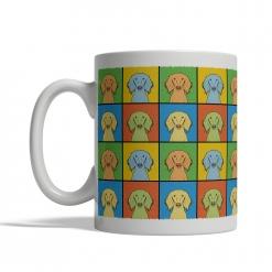 Saluki Dog Cartoon Pop-Art Mug - Left View
