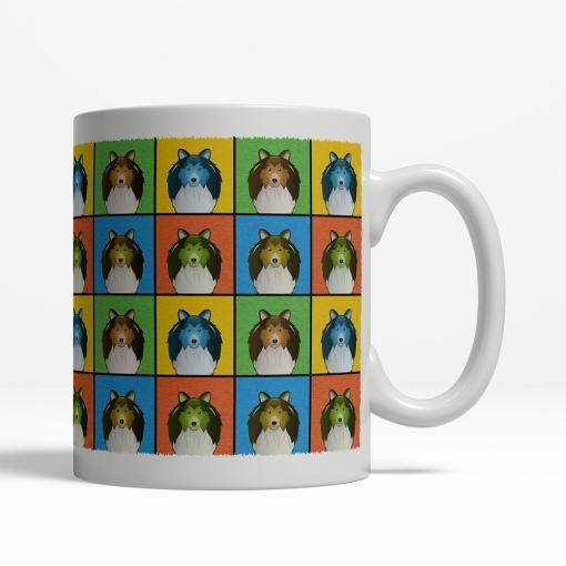 Shetland Sheepdog Dog Cartoon Pop-Art Mug - Right View
