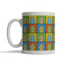 Sussex Spaniel Dog Cartoon Pop-Art Mug - Left View