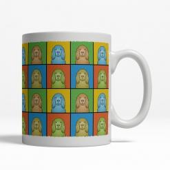 Sussex Spaniel Dog Cartoon Pop-Art Mug - Right View