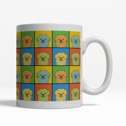 Tibetan Spaniel Dog Cartoon Pop-Art Mug - Right View