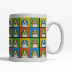 Welsh Springer Spaniel Dog Cartoon Pop-Art Mug - Right View