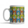 American Staffordshire Terrier Dog Cartoon Pop-Art Mug - Left View
