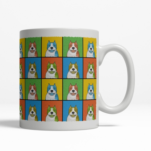 American Staffordshire Terrier Dog Cartoon Pop-Art Mug - Right View